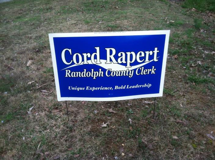 [Image: We can produce custom yard signs to promote your business or political campaign! ]