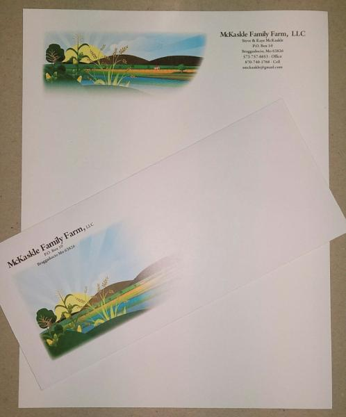 Full Color Stationary with many different paper options to choose from.