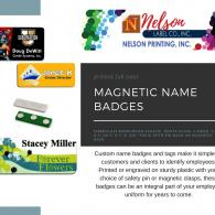 Magnetic full color name badges