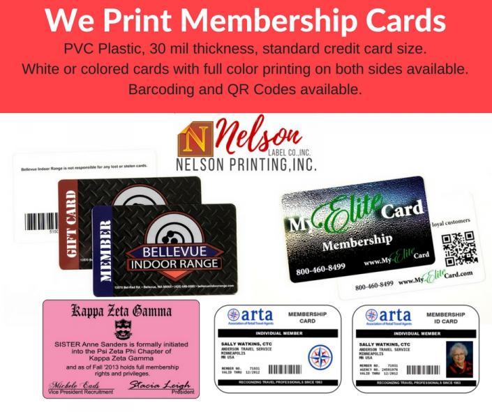 [Image: Our custom plastic membership cards are a great way to create easy-to-carry ID cards, discount cards, or VIP cards for your organization or store.]