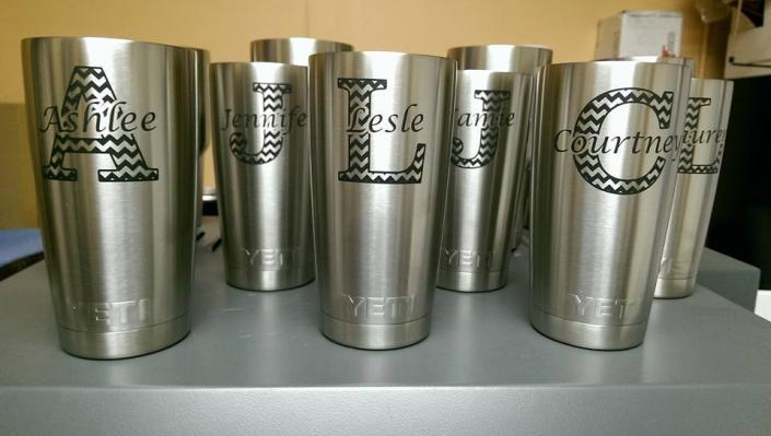 [Image: Personalized engraved Yetis make a lasting impression!]