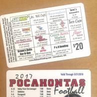 Plastic membership cards are great for athletic fundraisers!