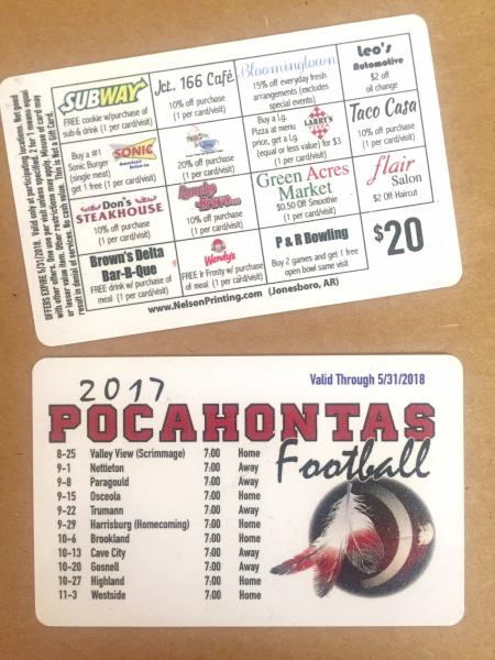Plastic membership cards are great for athletic fundraisers!]