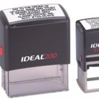 Our custom self inking stamps are available in various colors and sizes, with refillable ink cartridges.
