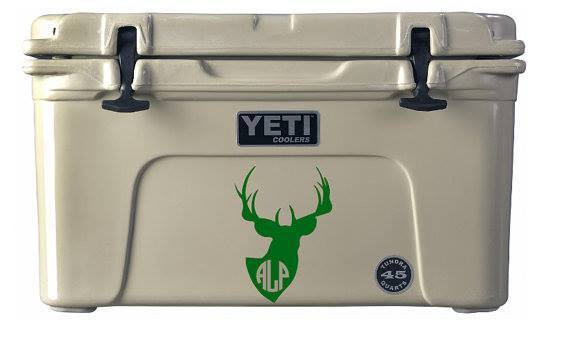 [Image: Vinyl decals are a perfect way to mark your Yeti coolers and more with your company logo. ]